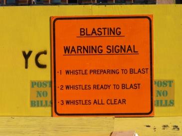 Blasting Warning Signal
