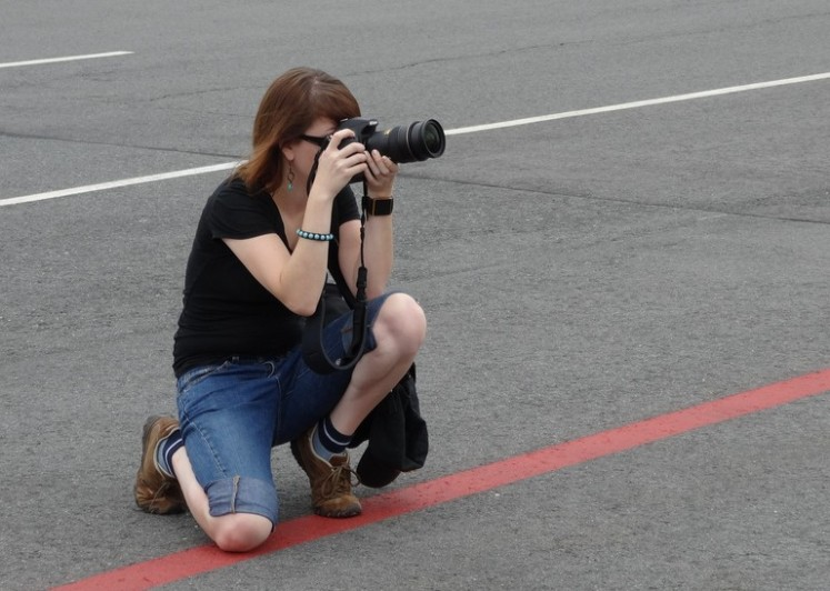 Photographing on the Tarmac