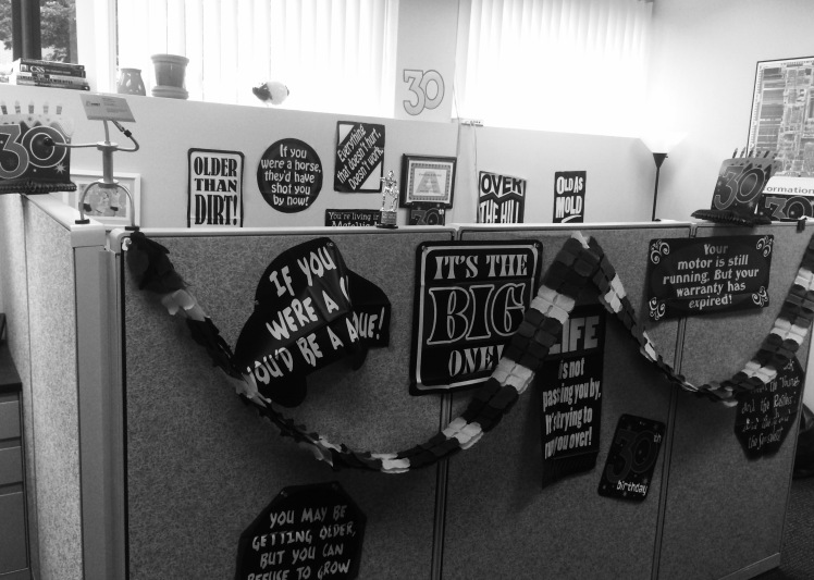 Office Decorated for 30
