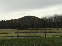 Mount Prospect, as seen from a nearby road. Rand's View is about a half mile past the summit.